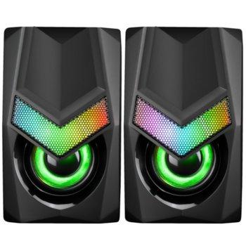 Тонколони Marvo SG-118, 2.0, AUX, 6W, RGB подсветка, черни image