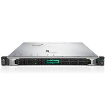 Сървър HPE DL360 G10 (PERFDL360-010), осемядрен Cascade Lake Intel Xeon 4208 2.1/3.2 GHz, 16GB RDIMM DDR4, без твърд диск, 4x 1Gb LOM, 5x USB 3.0, без ОС, 2x 500W image