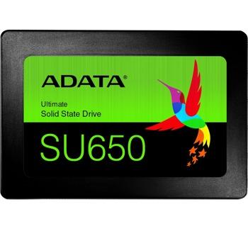 """Памет SSD 240GB A-Data SU650, SATA 6Gb/s, 2.5""""(6.35 cm), скорост на четене 520MB/s, скорост на запис 450MB/s image"""