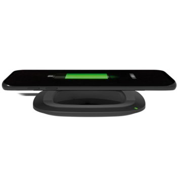 Зарядно устройство Platinet Wireless Charging Pad PLCWCQ2, от контакт към Qi безжично зареждане, 10W, черно, безжично image