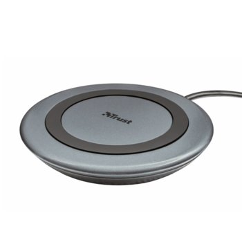 Безжично зарядно устройство TRUST Yudo10 22362-02, USB A to wireless, 5W, 7.5W, 10W, 2A, Black image