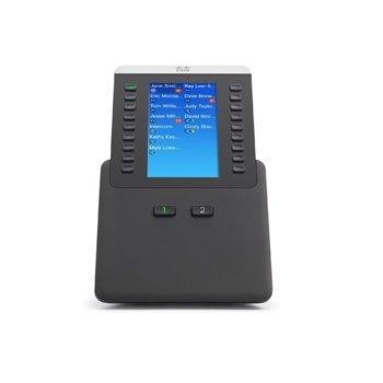 "Разширителен модул Cisco IP Phone 8800 за Cisco 8851, 8861 и 8865, 4.3"" (10.92 cm) цветен LCD дисплей, 18 програмируеми бутона, черен image"