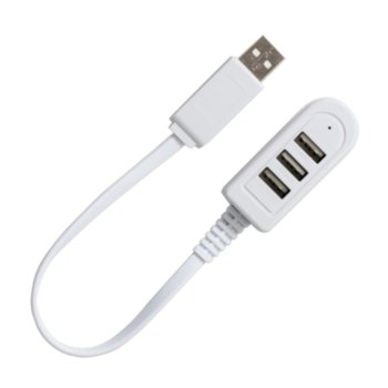 USB Хъб, USB 2.0, 3 порта, бял image