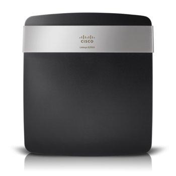 Рутер Linksys E2500, 600Mbps, 2.4GHz(300 Mbps)/5GHz(300 Mbps), Wireless N, 4x LAN 100, 1x WAN 100, 1x USB 2.0, 4x вътрешни антени image