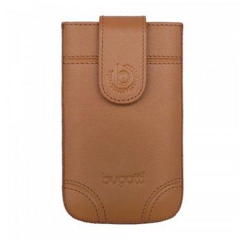 Универсален калъф, джоб, естествена кожа, Bugatti SlimCase Dublin XL, кафяв image