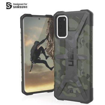 Калъф за Samsung Galaxy S20, хибриден, Urban Armor Pathfinder Camo 211977117271, удароустойчив, тъмнозелен камуфлаж image