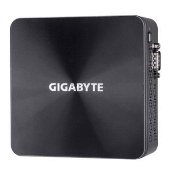 """Мини компютър Barebone Gigabyte Brix BRi3H-10110, двуядрен Comet Lake Intel Core i3-10110U 2.1/4.1 GHz, без памет (2x SO-DIMM DDR4 up to 64GB), без твърд диск (M.2 SSD (2280)/2.5"""" SATA HDD/SSD), Wi-Fi & Bluetooth, Lan1000, 2x HDMI, 5x USB 3.2 Gen 2 image"""