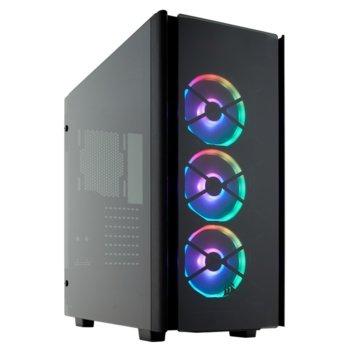 Кутия Corsair Obsidian Series 500D RGB SE Premium (CC-9011139-WW), ATX, 1x USB 3.1 Type-C, 2x USB 3.0, 2x 3.5mm жак, прозорец, черна, без захранване image