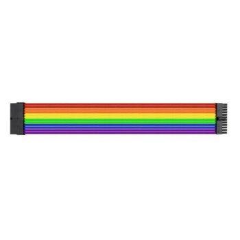 Комплект захранващи кабел Thermaltake TtMod комплект Extension Rainbow, 0.3 m., дъга image