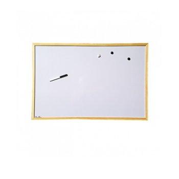 Бяла дъска,с дървена рамка, размер 800x1200 mm image