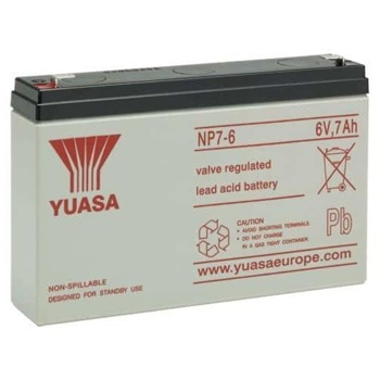 Акумулаторна батерия Yuasa NP7-6, 6V, 7Ah, VRLA image