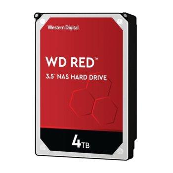 "Твърд диск 4TB WD Red NAS, SATA 6Gb/s, 5400rpm, 64MB, 3.5""(8.89 cm) image"