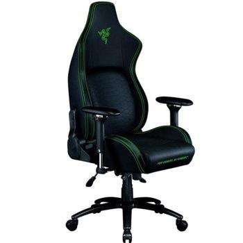 Геймърски стол Razer Iskur (RZ38-02770100-R3G1), до 130kg, еко кожа, метална рамка, регулируеми подлакътници, регулируема облегалка, черен image