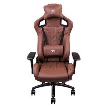 Геймърски стол TteSports X FIT Real Leather, естествена кожа, кафяв image
