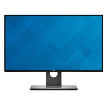 """Монитор Dell U2717D, 27"""" (68.58 cm), IPS панел, WQHD, 6 ms, 1000:1, 350cd/m2, Display Port, HDMI image"""