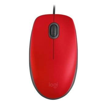 Logitech M110 Silent Mid Red product