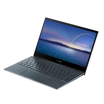 """Лаптоп Asus Zenbook Flip UX363JA-WB502T (90NB0QT1-M04950)(сив), четириядрен Ice Lake Intel Core i5-1035G4 1.1/3.7 GHz, 13.3"""" (33.78 cm) Full HD IPS Glare Touchscreen Display, (HDMI), 8GB DDR4, 512GB SSD, 2x Thunderbolt 4, Windows 10 Pro image"""