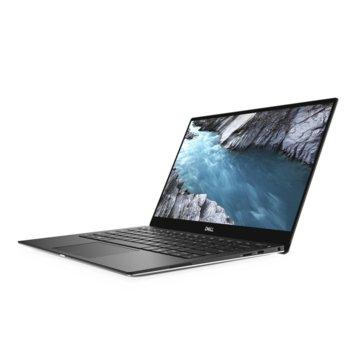 "Лаптоп Dell XPS 13 9380 (DXPS9380I78565U16G512G4K_UBU-14)(сребрист), четириядрен Whiskey Lake Intel Core i7-8565U 1.8/4.6 GHz, 13.3"" (33.78 cm) 4K/UHD Anti-Glare Touchscreen Display, (Thunderbolt 3), 16GB, 512GB SSD, Linux, 1.27 kg image"