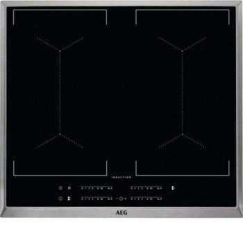 Kерамичен плот AEG IKE64450XB, за вграждане, индукционен, 4 котлона, сензорно управление, черен image