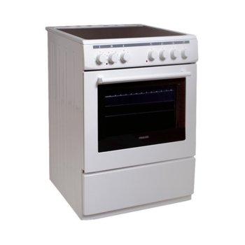 Готварска печка Finlux FLCM 6000A, клас A, 56 л. обем, 8 функции, керамичен плот, бяла image