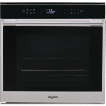 Фурна за вграждане Whirlpool W7 OM4 4S1 P, клас А+, 73 л. обем, грил, LCD дипслей, пиролитично самопочистване, черна  image