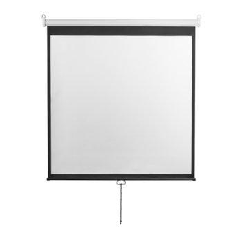 """Екран Lumi, за стена, 213 x 213 cm, 96"""" (243.84 cm); 1:1 image"""