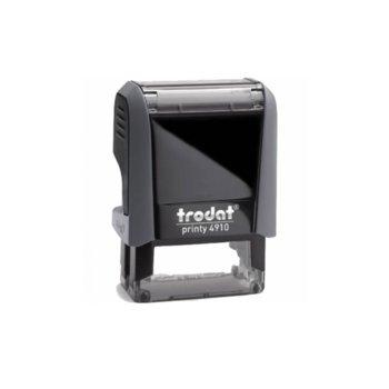 Автоматичен печат Trodat 4910 черен, 9/26 mm, правоъгълен image