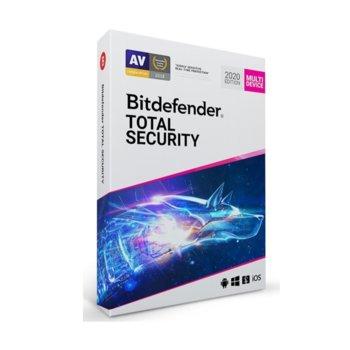 Софтуер Bitdefender Total Security, 5 потребителя, 2 години image