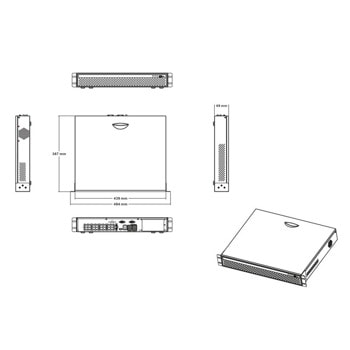 IP видеорекордер Longse NVR3616HP, H.265+/H.265/H.264+/H.264, 16 канала, 17x LAN (16x PoE), 4x SATA III (до 32TB), 2x USB 2.0, 1x VGA, 1x HDMI, 1x RS-485, 1x RS-232 image