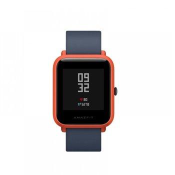 """Смарт часовник Xiaomi AMAZFIT Bip S Red, 1.28"""" (3.25 cm) LCD Touchscreen дисплей, до 40 дни живот на батерията, IP68, червен image"""