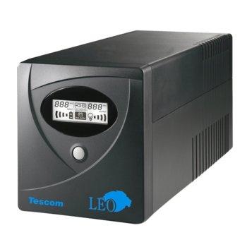 UPS Tescom Leo Series 650A, 650VA/390W, LCD дисплей, Line Interactive, Mini Tower image