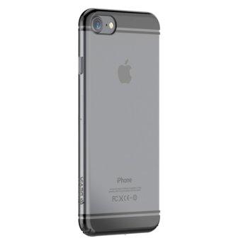 Калъф за Apple iPhone 7, страничен протектор с гръб, поликарбонат, Devia Glimmer2, черен image