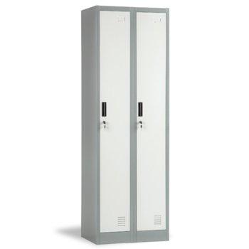 Гардероб Carmen CR-1242-2 J LUX, 2 бр. шкафове, метален, сив image