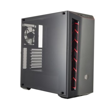 Кутия CoolerMaster Masterbox MB510L Red Trim, ATX/microATX/miniITX, USB 3.0, черна/червена, без захранване image