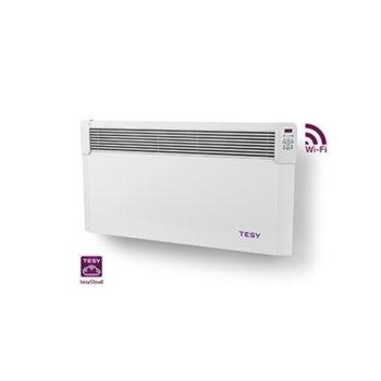 Конвектор Tesy ConvEco Cloud (CN 04)(CN04 200 EIS CLOUD W), 2000W, Wi-Fi, стенен, до 24 м2 отопляема площ, IP24, LED дисплей, бял image