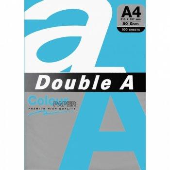 Хартия Double A Deep Blue, A4, 80 g/m2, 100 листа, синя image