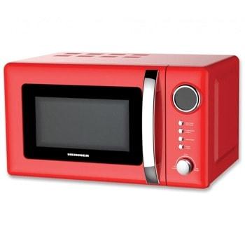 Микровълнова фурна Heinner HMW-20GRD, с грил, електронно управление, 700 W, 20 L обем, 5 степени на мощност, червен image