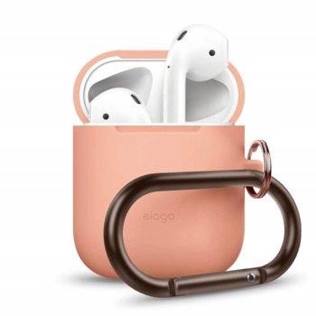 Калъф за слушалки Elago Hang Silicone Case EAPSC-HANG-PE, за Apple AirPods, силиконов, оранжев image