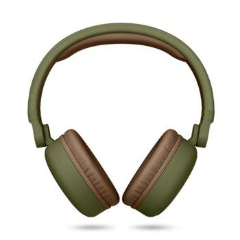 Слушалки Energy Sistem Headphones 2, безжични, микрофон, зелени, 300 mAh батерия image