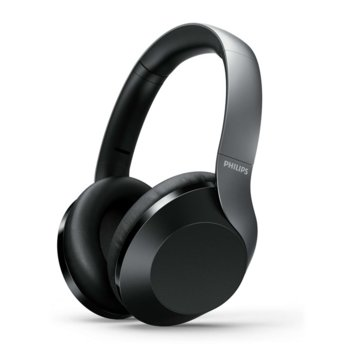 Слушалки Philips Performance TAPH805BK, безжични, микрофон, Bluetooth, ANC, гласов асистент, черни image