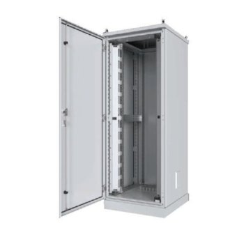 """Комуникационен шкаф Security Professionals MR.IP55G42U68.03, 19"""", 42U, 600 x 800 x 2117, свободностоящ, заземителен комплект за вратата, триточково заключване, черен image"""