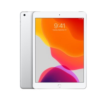 "Таблет Apple iPad 7 10.2"" (MW6F2HC/A)(Silver), Wi-Fi + Cellular, LTE, 10.2"" (25.90 cm) IPS Retina дисплей, четириядрен A10 Fusion 2.34GHz, 2GB RAM, 128GB Flash памет, 8.0 & 1.2 Mpix, iPadOS, 493g image"