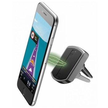 Стойка за телефон Cellularline MAG4, за кола, универсална, за въздуховод, магнитна, 360 градуса на въртене, черна image