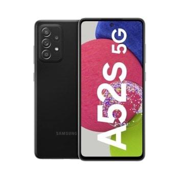 """Смартфон Samsung Galaxy A52s 5G (черен), поддържа 2 SIM карти, 6.5"""" (16.51 cm) FHD+ Super AMOLED дисплей, осемядрен Snapdragon 778G 5G 2.4 GHz, 6GB RAM, 128GB Flash памет (+microSD слот), 64.0 + 12.0 + 5.0 + 5.0 & 32 MPix камера, Android, 189g image"""