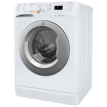 Перална със сушилня Indesit XWDA751480X, клас A, 7 кг. капацитет на пералня / 5 кг. на сушилня, 1400 оборота в минута, 16 програми за изпиране и 12 за сушене, свободностояща, 60cm ширина, програма Sport, бяла image