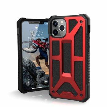 Калъф за Apple iPhone 11 Pro, хибриден, Urban Armor Monarch 111701119494, удароустойчив, червен image