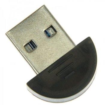 Адаптер Bluetooth USB Dongle, Bluetooth 2.0, черен image
