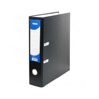 Класьор Noki, за документи с формат до А4, дебелина 5см, с метален кант, черен image