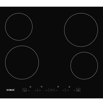 Плот за вграждане Samus PSVM-64BG3, 4 нагревателни зони, витрокерамичен, сензорно управление, черен image