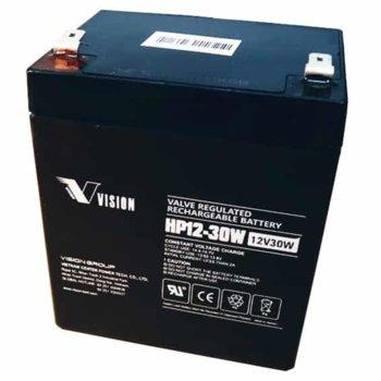Акумулаторна батерия Vision HP12-30W, 12V, 5Ah, AGM image